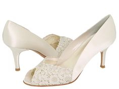 Love these! Perfect ivory wedding shoes and low enough heal to be comfortable all day.