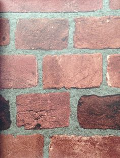 Dark Red Brick Wallpaper with Classic + Rustic Look (BC1583056 Design by Color/Jewel)
