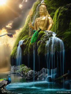 Lord Murugan Wallpapers, Hanuman Images, Happy Birthday Love, Indian Actress Photos, Photo Manipulation, Statue Of Liberty, Peacock, Prayers, Island