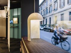 Milano 2015. The table lamp by Carlo Colombo made of Carrara statue marble.