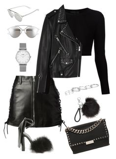 """Untitled #1807"" by kellawear on Polyvore featuring Yves Saint Laurent, Cushnie Et Ochs, AllSaints, Alexander Wang, STELLA McCARTNEY, Kendra Scott, Christian Dior and Topshop"