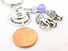 Lucky Elephant Quote Keychain