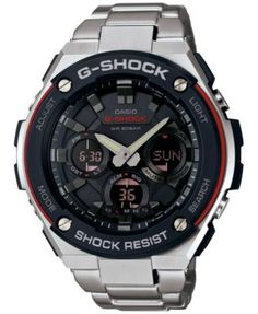 G-Shock Men's Analog-Digital Stainless Steel Bracelet Watch 52x60mm GSTS100D-1A4 $300.00 Get the best of both worlds with this analog-digital watch by G-Shock, full of excellent features you'll use every day.