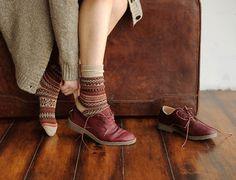 Imagen de socks, shoe, and vintage