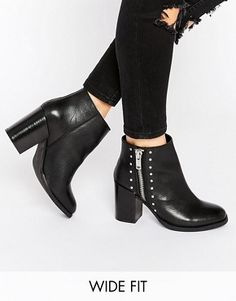 ASOS ROSA Wide Fit Leather Boots