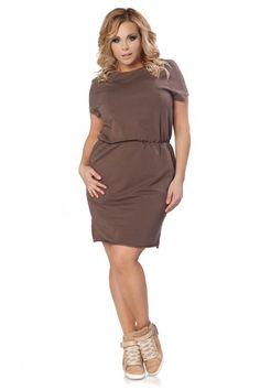 Sukienka Aldona Size Plus - Tessita