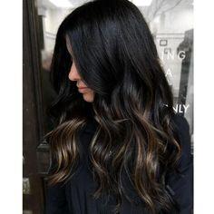 Brown Ombre Hair, Brown Hair Balayage, Hair Color Balayage, Hair Color For Black Hair, Brown Hair Colors, Dark Hair, Hair Colours, Hair Highlights, Coffee Brown Hair