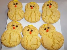 Easter Chick Cookies - easy recipe made with lemon cake mix, oil and eggs