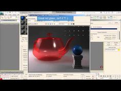 3d studio max material editor: glass tutorial - YouTube
