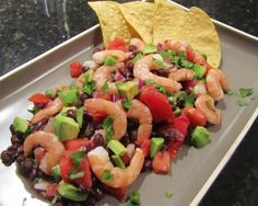Shrimp-Black Bean-Avocado Salad