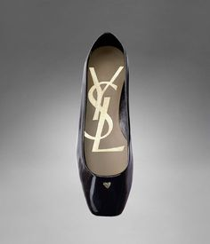 YSL patent leather flats