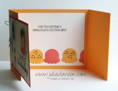 Stampin' Up! Cool Treats Birthday Gate Fold Card ~ with measurements ~ 2017 Occasions Catalog ~ www.juliedavison.com/clubs