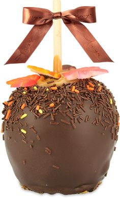 Try our gourmet Fall Leaves Caramel Apple w/ Dark Belgian Chocolate: http://www.amysgourmetapples.com/gifts-by-occasion/fall-autumn-thanksgiving-gifts/fall-leaves-apple-w-dark-chocolate.html