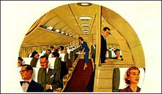 """Northwest Airlines 1953 """"Only Northwest Airlines gives you Double Deck Stratocruisers…a two story penthouse with wings!"""""""
