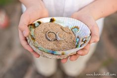 For the ring barer to carry instead of a pillow...Cute, cute, cute! #beach #wedding http://www.beautifulbarefootsandals.com