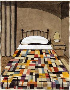 Art by Italian illustrator Franco Matticchio (b. 1957), via 50 Watts.