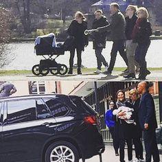 Crown Princess Victoria, Prince Daniel and little Prince Oscar in Stockholm.