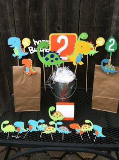 Dinosaur+Birthday+Party+Package+by+PoppopsPeanut+on+Etsy,+$124.50
