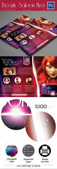 Beauty Salon Flyer - A4
