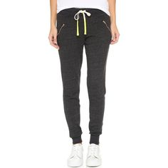 SUNDRY Zipper Sweatpants (1.020 NOK) ❤ liked on Polyvore featuring activewear, activewear pants, black, black sweat pants, lightweight sweatpants, sweat pants, zipper sweatpants and zipper fly sweatpants