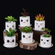 Painted Plant Pots, Painted Flower Pots, Flor Emoji, Tin Can Crafts, Diy And Crafts, Diy Flowers, Flower Vases, Flower Pot Art, Cheap Flowers