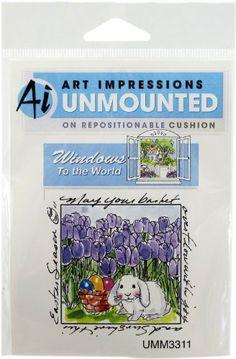 Art Impressions Bunny in Tulips Rubber Stamp Art Impressions http://www.amazon.com/dp/B007VAGKA6/ref=cm_sw_r_pi_dp_vIg3tb17SDF10DF7