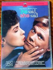 He Said, She Said (Kevin Bacon) DVD in Like New condition (Region 4 PAL)