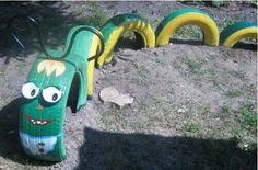 Natural playground tires