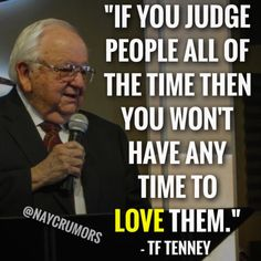 """If you judge people all of the time then you won't have any time to love them."" ❤️"