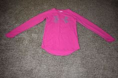Under Armour Pink Waffle Girls Long Sleeve Shirt Size Youth Medium YMD 1259863 #UnderArmour #Everyday