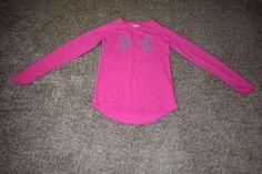 Under Armour Pink Waffle Girls Long Sleeve Shirt Size Youth Medium YMD 1259863 #UnderArmour #Everyday