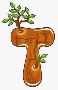 T is for Tree, Baby Alphabet Childrens Alphabet, Alphabet For Kids, Alphabet Art, Alphabet And Numbers, Scrapbook Letters, Alphabet Templates, Abc For Kids, Letter A Crafts, Letter Set