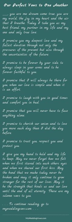 20 Best Wedding Vows That Make You Cry Images In 2019 Wedding