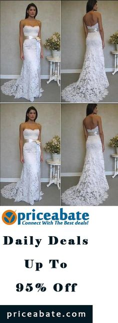 #priceabatedeals New White Ivory Bride Wedding Dress Custom Size 2-4-6-8-10-12-14-16 - Buy This Item Now For Only: $93.0