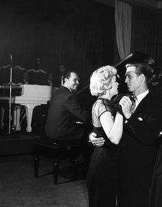 Marilyn Monroe at Ciro's nightclub with her date Craig Hill, September 1951.