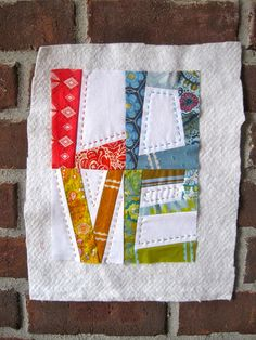 LOVE this! Could see intermixing blocks of these with heart blocks and  such for a Valentine quilt.