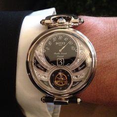 """""""Stunning wrist-shot from #Salon of the #Bovet Amadeo Fleurier Virtuoso V."""""""
