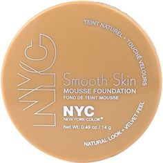 NYC New York Color Smooth Skin Mousse Foundation, Sand Beige, 0.49 oz