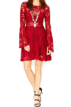 Fashion - The Folk Song Dress in Rich Red by Free People $128 20% OFF At Checkout | Get paid up to 10.6% Cashback when you shop at CoutureCandy.com with your DubLi membership. Not a member? Sign up for FREE at www.downrightdealz.net!