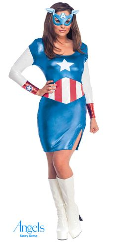 Miss American dream is a new addition in the Avengers team. Modeled on the amazing Captain America,Miss Ameican dream does not disappoint! This is a perfect his and hers combination or an incredible double act. Pack includes dress and eye mask. http://www.fancydress.com/costumes/Miss-American-Dream-/0~4499608~12