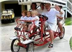 Four (4) wheel, four (4) person, two (2) person, Surrey bike(s) bicycle(s), quadricycles