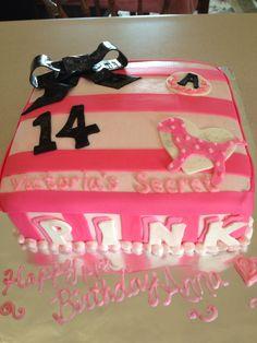 Pink Victoria's Secret Cake