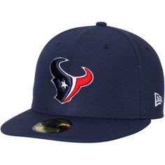Houston Texans New Era Omaha 59FIFTY Fitted Hat - Navy