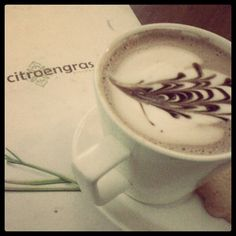 a cup of cappucino