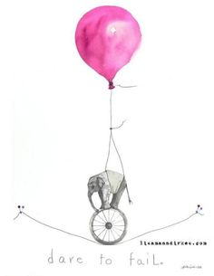 I just love this print. ♥ Dare to fail ♥ Want it for my girls room. NOTE: Just read that the artist, a mother like me, behind this artwork died in breast cancer on 23d of Nov 2011. So sad. Check out her work on https://lisamanndirkes.com/