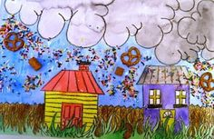 cloudy with a chance of meatballs art project
