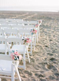 Beach Wedding Photos - Santa Monica Wedding from Orange Blossom Special Events Beach Wedding Photos, Beach Wedding Photography, Seaside Wedding, Destination Wedding, Chair Photography, House Photography, Beach Weddings, Romantic Weddings, Wedding Pictures