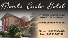 BUSINESS CARD DESIGN >> Monte Carlo Hotel (Maputo - Mozambique) Created by Design so Fine