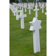 France Normandy Wwii cemetery Canvas Art - Cindy Miller Hopkins DanitaDelimont (17 x 26)