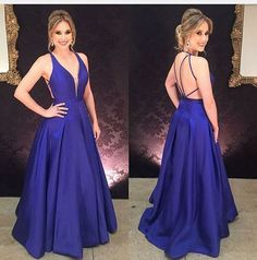 Charming Evening Dress,Dark Blue Evening Dresses,A Line Evening Party Dress,Long Prom Dress · OKProm · Online Store Powered by Storenvy Royal Blue Formal Dresses, Royal Blue Evening Dress, Blue Evening Dresses, Elegant Prom Dresses, Backless Prom Dresses, A Line Prom Dresses, Cheap Prom Dresses, Trendy Dresses, Sexy Dresses